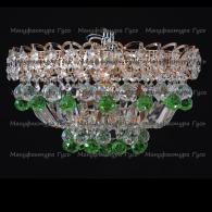 Люстра хрустальная Катерина зеркальная шар зеленый 40 мм