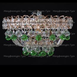 Люстра хрустальная Катерина зеркальная шар зеленый