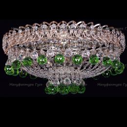 Люстра хрустальная Катерина 500 мм шар зеленый