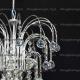 Люстра хрустальная Каскад 3 лампы шар 30 мм.