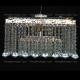Люстра хрустальная Квадрат 5 ламп Гамма конус 40 мм длинная