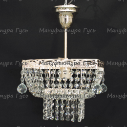Люстра хрустальная Квадрат 1 лампа с подвесом (собрана прямо)