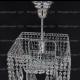 Люстра хрустальная Квадрат 1 лампа Перо с подвесом