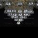 Люстра хрустальная Кольцо + пирамида конус 40 мм
