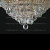 Люстра хрустальная Кольцо + пирамида шар  40 мм