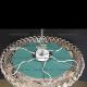 Люстра хрустальная Кольцо + пирамида шар  30 мм