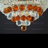 Люстра хрустальная Кольцо + пирамида шар  40 мм чайный