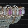 Люстра хрустальная Кольцо + пирамида шар  40 мм фиолетовая