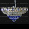 Люстра хрустальная Кольцо + пирамида шар  40 мм синий
