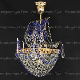 Люстра хрустальная Корвет синий 1 лампа
