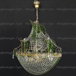 Люстра хрустальная Корвет 4 лампы зеленый
