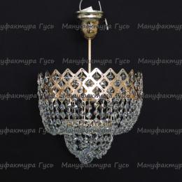 Люстра хрустальная Корона № 2 1 лампа подвес