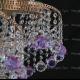 Люстра хрустальная Космос шар 40 мм фиолетовая