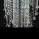 Люстра хрустальная Космос 5 ламп шар 40 мм длинный