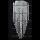 Люстра хрустальная Космос 5 ламп шар 30 мм длинный