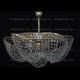 Люстра хрустальная Космос 3 лампы с подвесом