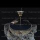 Люстра хрустальная Космос 3 лампы шар с подвесом