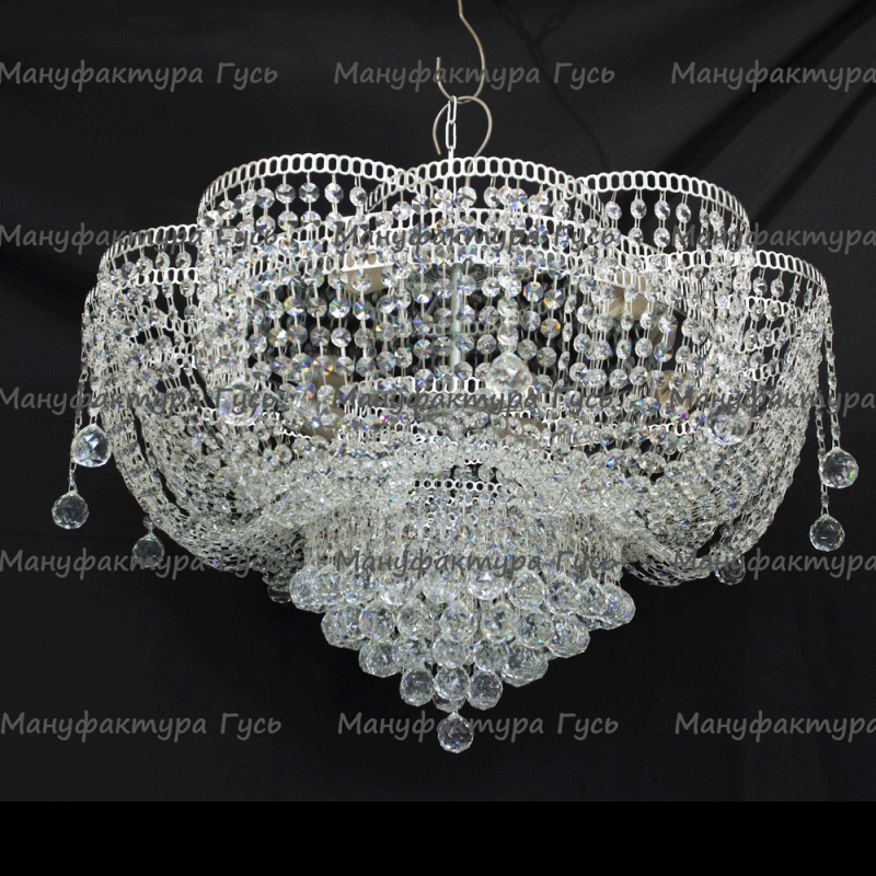 Люстра хрустальная Лотос Александра 6 ламп
