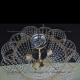 Люстра хрустальная Лотос 5 ламп Пион с подвесом