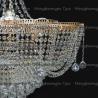 Люстра хрустальная Лотос 6 ламп Александра с подвесом