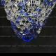 Люстра хрустальная Малинка обтикон синяя