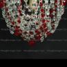 Люстра хрустальная Малинка шар красная