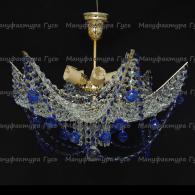 Люстра хрустальная Марина № 2 синяя