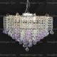 Люстра хрустальная Ромашка Крона шар 30 мм фиолетовая