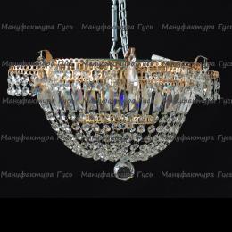Люстра хрустальная Ромашка 1 лампа Купол