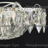 Люстра хрустальная Ромашка 6 ламп Перо