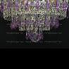 Люстра хрустальная Ромашка Хризантема фиолетовая бол.карандаш