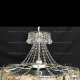 Люстра хрустальная Ромашка 6 ламп Шар с подвесом
