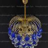 Люстра хрустальная Хрустальные брызги шар 40 мм синий