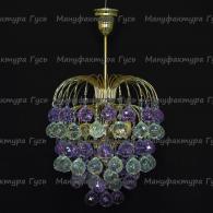 Люстра  Хрустальные брызги шар 40 мм фиолетовый