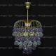 Люстра хрустальная Хрустальные брызги шар 40 мм фиолетовый