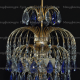 Люстра  Хрустальные брызги с подвесом синяя