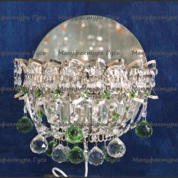 Бра хрустальное Катерина шар зеленый