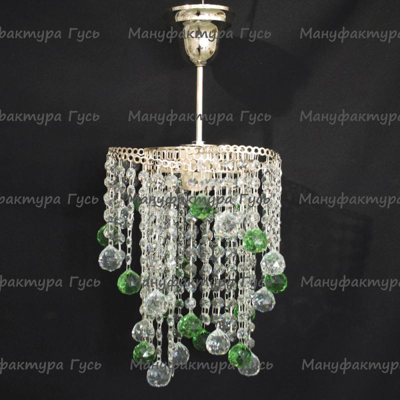 Люстра хрустальная Вектор № 4 шар зеленый
