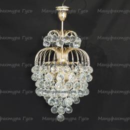 Люстра  Хрустальные брызги с подвесом шар 40 мм