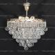 Люстра хрустальная Капель 3 лампы шар 40 мм  с подвесом