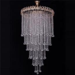 Люстра хрустальная Капель-лепесток 6 ламп длинная шар
