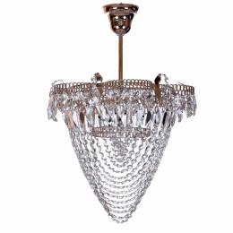 Люстра хрустальная Ромашка 1 лампа водоворот с подвеом