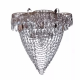 Люстра хрустальная Ромашка 1 лампа водоворот