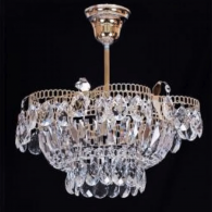 Люстра хрустальная Ромашка 1 лампа с подвесом