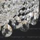 Люстра  хрустальная Водопад + сетка зеркальная с подвесом
