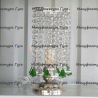 Настольная лампа Виктория пирамидка зеленая