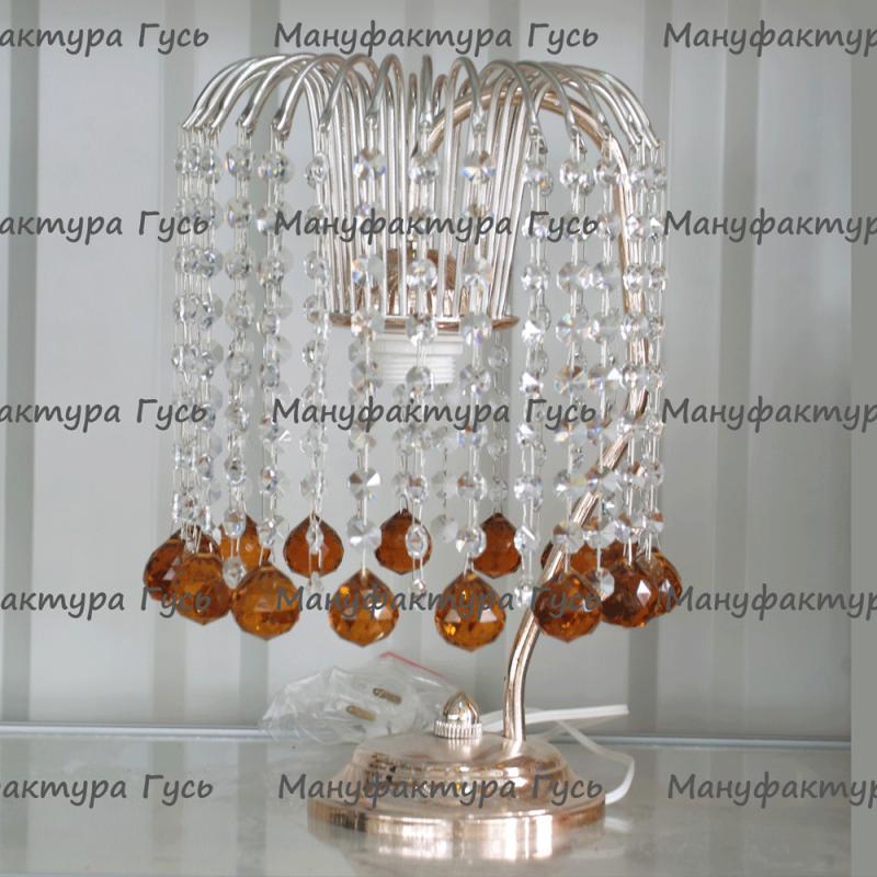 Настольная лампа Касакад 1ярус шар 30 мм чайный
