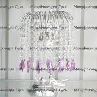 Настольная лампа Каскад журавлик сиреневый