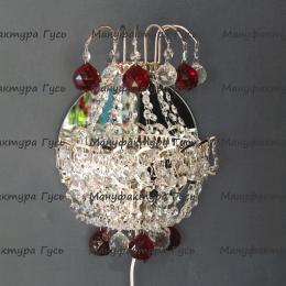 Бра хрустальное Натали Версаль с красными шариками
