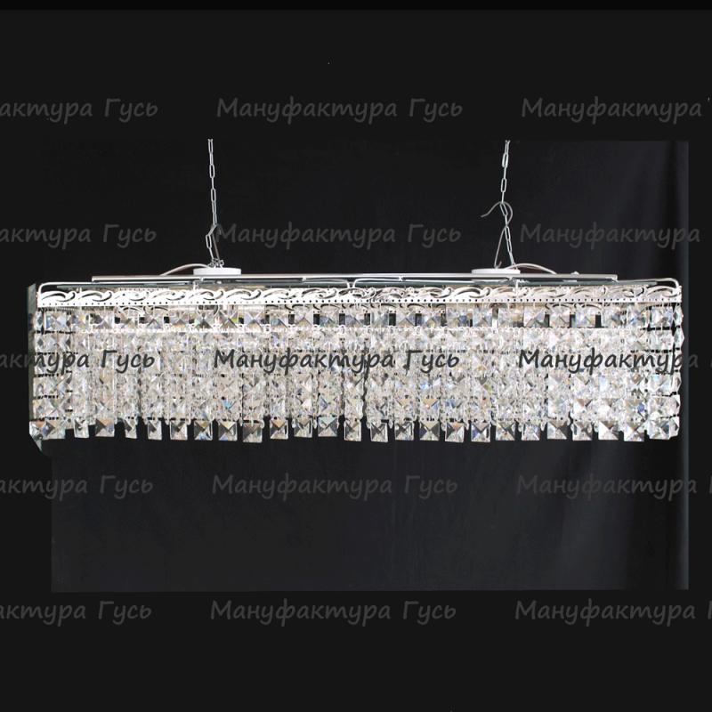 Люстра  хрустальная Капель прямоугольная 8 ламп